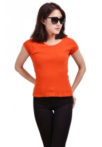 ViQ Ladies Fashion Top (Orange)