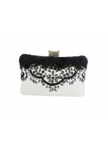 Jacque Quincy Clutch (White)