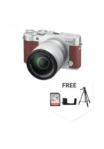 Fujifilm XA3 with XC16-50MM Lens Brown + 16GB + Case + Tripod (Original Malaysia Warranty)