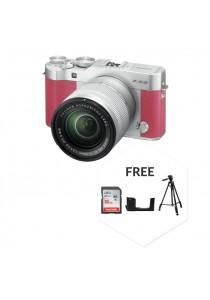 Fujifilm XA3 With XC16-50MM Lens Pink + 16GB + Case + Tripod (Original Malaysia Warranty)