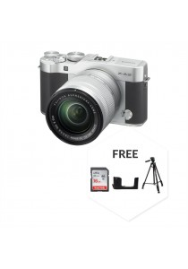 Fujifilm XA3 With XC16-50MM Lens Silver + 16GB + Case + Tripod (Original Malaysia Warranty)