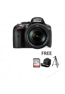 Nikon D5300 (AF-P DX 18-55MM VR) + 16GB Ultra Class10 + Bag + Tripod (Original Malaysia Warranty)(Black)