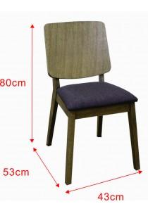 A Pair Of Denmark Cushion Seat Dining Chair