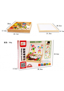 Fun Inspiring Magnetic Puzzles Drawing Board (People)