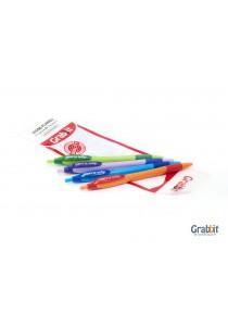 Grabbit Digno Flambo Ball Pen 0.7 BL 4 X 20pKT (80pcs)