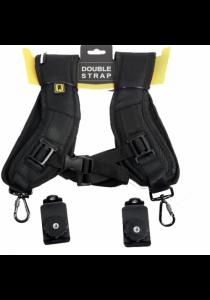 Double Shoulder Sling Belt Quick Release Strap - Black