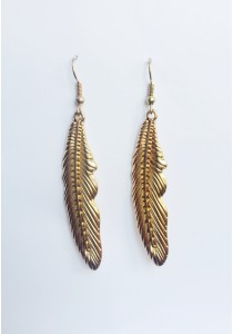 LaBelleD. G. Missy Feathered in Gold Earrings