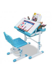 Furniture Direct Ergonomic Adjustable Study Desk With Chair - Blue