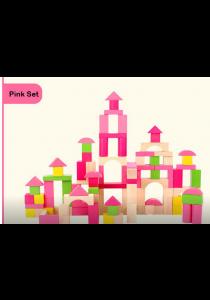 100-pcs Wooden Brick Set (ELC Pink)
