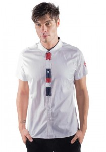 Slim Fit Shirt With Embroidered Detail in White 10113-WHITE