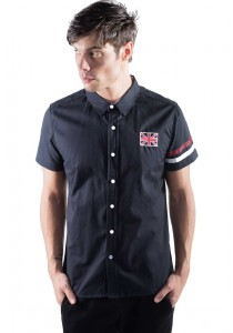 Slim Fit Shirt With Embroidered Detail in Black 10114-BLACK
