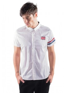 Slim Fit Shirt With Embroidered Detail in White 10114-WHITE