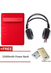 Pofoko Easy Series 12''inch Red with Gaming Headset FREE Powerbank
