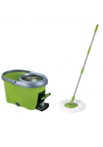 Easy Mop Stainless Steel Basket with Pedal Microfiber Spin Floor Mop