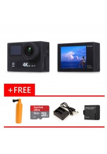EKEN H8R Ultra HD 4K 30fps Wifi Sports Action Camera Black + Micro SD 16GB + Diving Pod + Battery + Charger