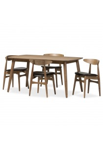 Furniture Direct Enda Mid Century 4 Seater Dining Set