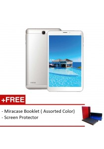 Joi 8 Lite AK-M845 - Silver White FREE Screen Protector & Miracase Booklet (*Assorted Color)