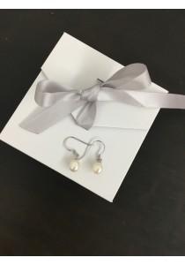 Cream Pearl Earrings