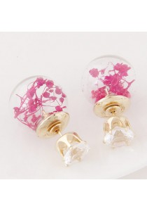 Simple and Sweet Bead Earring (Pink)