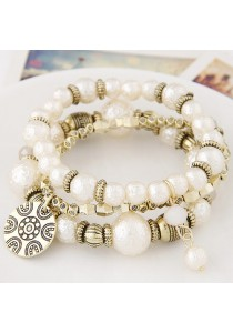Fashion Metal Multilayer Pearl Bracelet