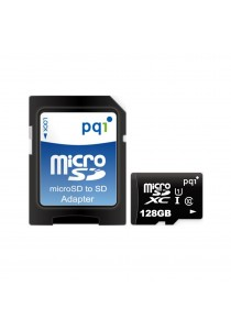 PQI Memory Card Micro Sd UHS-1 Class 10 | 128GB With Adapter