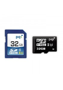 PQI Memory Card Micro Sd UHS-1 Class 10 | 32GB With Adapter