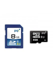 PQI Memory Card Micro Sd UHS-1 Class 10 | 8GB With Adapter