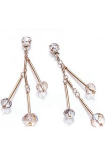 Sunburst Swarovski Dangling Earrings