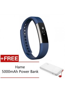 Fitbit Alta Fitness Tracker - (Blue Small) FREE Hame 5,000mAh Power Bank
