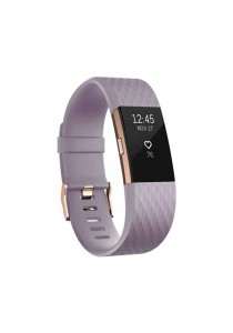 """[Special Edition] Fitbit Charge 2 Heart Rate Fitness Wristband Large 6.3"""" – 7.9"""" Lavender Rose Gold"""