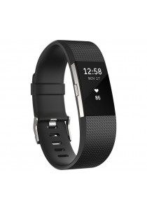 Fitbit Charge 2 Heart Rate Fitness Wristband Large - Black (FB407SBKL)