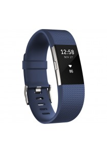 Fitbit Charge 2 Heart Rate Fitness Wristband Large - Blue (FB407SBUL)