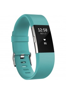 Fitbit Charge 2 Heart Rate Fitness Wristband Small - Teal (FB407STES)