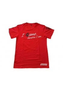 Msi I-Game T Shirt / Red / M Size
