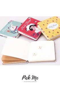 FAIRY FOREST Square Sized Tin Plate Cover Notebook