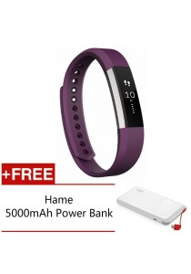 Fitbit Alta Fitness Tracker - (Plum Large) FREE Hame 5,000mAh Power Bank