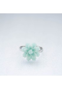 Floral Ring (Mint) Handmade by Shirleen Jeweliciouss