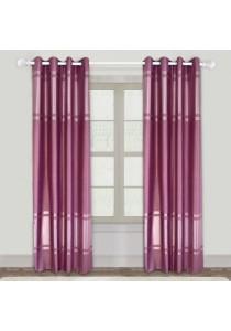 Set of 2-Piece Essina Flow 1-Layer Blackout  Eyelet Curtain - Maroon