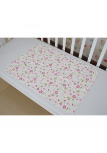 Baby Mattress Protector Waterproof Bamboo Fabric Changing Mat (Flower)