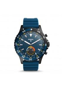 Fossil Q Crewmaster Hybrid Blue Silicone Smartwatch FSLSWFTW1126
