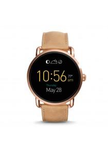 Fossil Q Wander Touchscreen Light Brown Leather Smartwatch FSLSWFTW2102