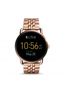 Fossil Q Wander Touchscreen Rose Gold-Tone Stainless Smartwatch FSLSWFTW2112