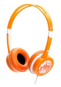 iDance FREE 20 Lightweight DJ Headphone with Mic (Orange)