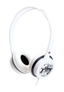 iDance FREE 60 Lightweight DJ Headphone with Mic (White)