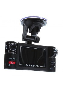 F30 2.7 Inch HD Dual Camera Lens Car Vehicle DVR Recorder