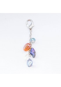 Fruitful Chunky Crystal Bag Charm Handmade by Shirleen Jeweliciouss