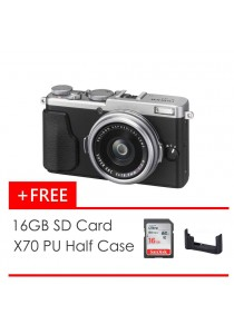 Fujifilm X70 Digital Camera Silver + 16gb C10 + Shoulder Bag (Original Malaysia Warranty)