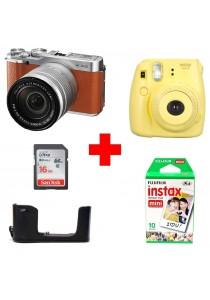 Fujifilm X-A2 With XC16-50mm Lens (Brown) + (Free Fujifilm Instax Mini 8)
