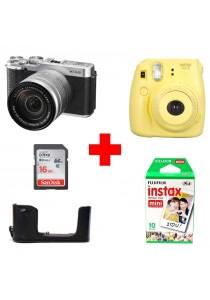 Fujifilm X-A2 With XC16-50mm Lens (Silver) + (Free Fujifilm Instax Mini 8)