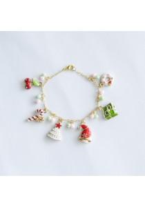 Fun Christmas Charm Gold Bracelet